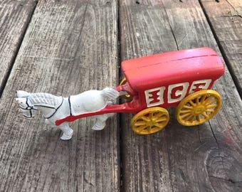 Cast Iron Ice Wagon Toy