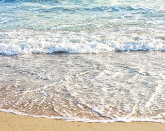 Seascape, Beach Decor, California Coastal Photograph, Beach Wall Art, California Beach Print, Ocean Photo Art, Blue White Large Wall Art