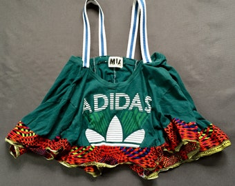 Adidas t shirt upcycled cami top vest