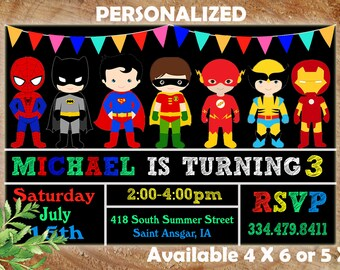 Super hero invitation superhero invitation templates