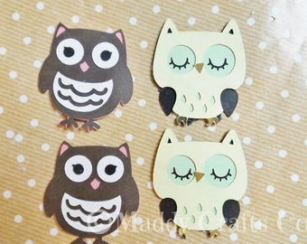 Owls Card Scrapbook Embellishments Card Craft Paper Craft Supplies