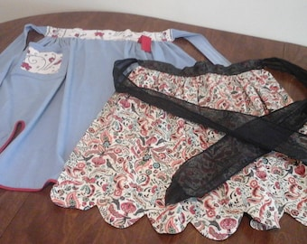 Two vintage aprons from the 1960s