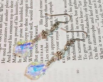 Swavarski Earrings Dangle Drop Glass Earrings