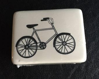 Bicycle Trinket Box, Porcelain, Keepsake box, Quantity 1