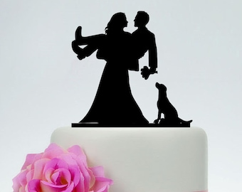 Wedding Cake Toppergroom And Bride With Dogs Dog Cake