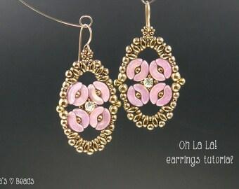 Arcos Beads Earrings Tutorial - Oh La La! Earrings - Beading Pattern by Sidonia