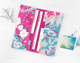 Boarding Pass Wallet // Passport Holder In Exclusive Fabric - Waves // Passport Cover // Family Sized // Gifts For Women // Travel Gifts