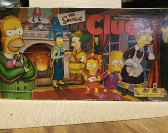 Simpsons clue board game