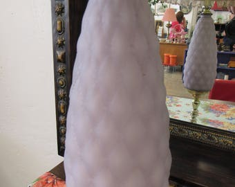 Light Purple Glass Lamp and Marble Base made in Italy