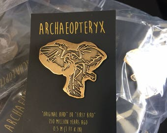 Archeopteryx Gold Pin
