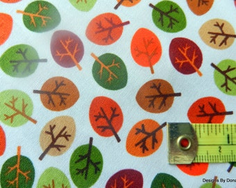 "One Yard Cut Quilt Fabric, ""Little Leaves"", ""Forest Friend-zy"" by Greta Lynn for Kanvas, Sewing-Quilting-Craft Supplies"