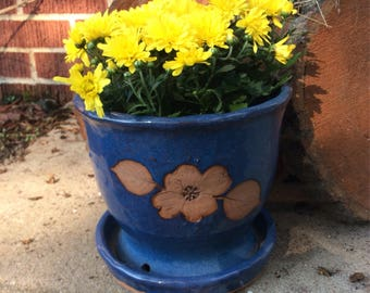 Indoor Outdoor Pottery Planter~Vintage Planter
