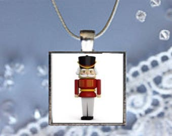Pendant Necklace Christmas Wooden Soldier