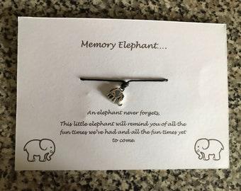 Memory elephant wish bracelet