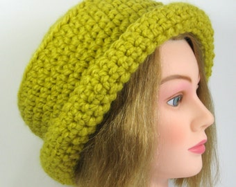 Womens Cloche Hat in Citron Derby Hat Ready to Ship