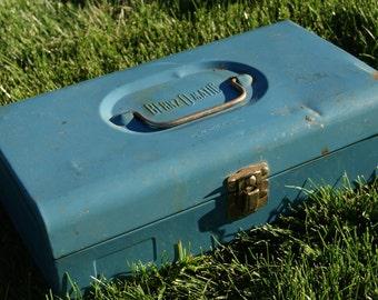 Vintage Blue Metal Bernzomatic Tool / Torch Box