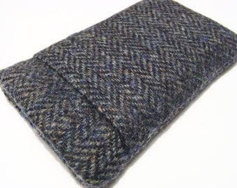 iPhone 6 Cover / iphone 7 Case / HTC  Herringbone Harris Tweed Sleeve