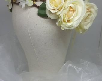 Ivory Rose Crown
