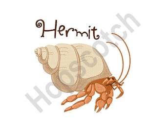 Hermit Crab - Machine Embroidery Design
