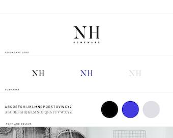 Pre-Made Mini Branding Kit / Mini Branding Package / Modern Logo / Branding /  Minimal Branding  / Decor+Interior