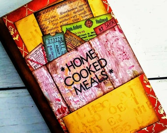 Home Cooked Meals Recipe Book with Lined Pages