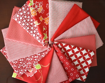 Bakers Dozen Reds Fat Quarter Bundle from collections by Bonnie & Camille for Moda - 13 Fat Quarter for the Price of 12!