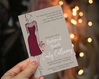 Bridesmaid Brunch Invitations
