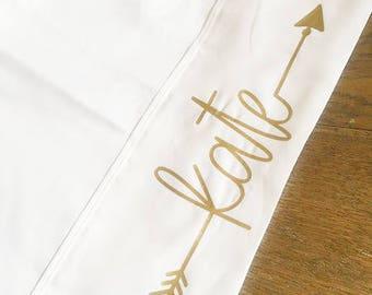 Monogram pillowcase, Personalized Pillowcase, Custom Pillowcase, girls Pillow Case, camp pillow case, party favors, slumber party favors