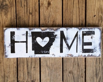 State Home sign. Arkansas sign. State love. Home sign. Home decor. Arkansas. State love sign. Love sign. State sign. Wood sign. Wood decor.