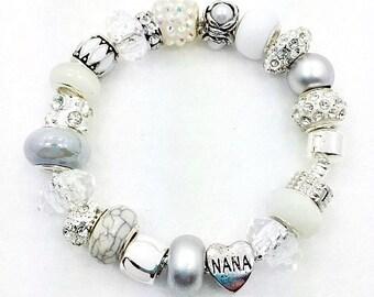 White Nana European Bracelet