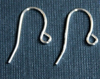 100 pcs of silver plated over brass earrings hook 20X11mm