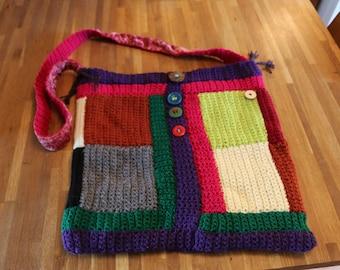 Handbag, Handmade, Crochet Patchwork.