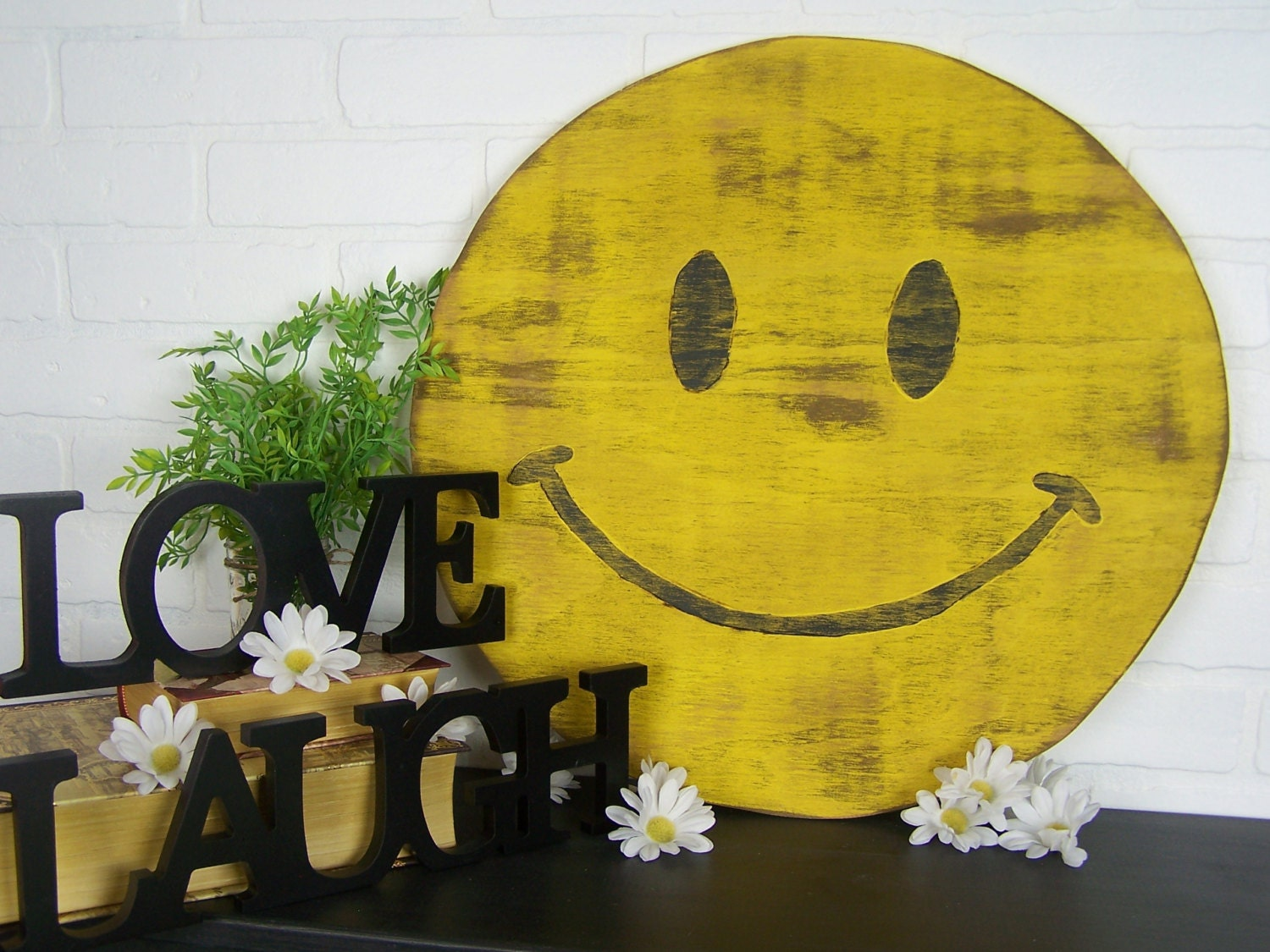 Wooden Smiley Face Sign Happy Face Be Happy Sign Happy Decor