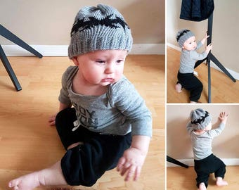 Bat Baby Toque (knitted)