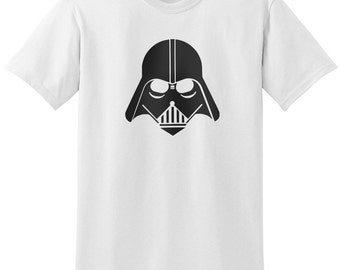 Star Wars Inspired Darth Vader Helmet Design 2 Black Gray Grey T-Shirt T-Shirts Tops Women Men Boys Girls Ladies Unisex Fit