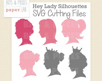 SVG Cutting Files: Woman Silhouette SVG, Princess SVG, Woman svg