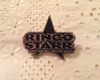 Ringo Starr and His All Starr Band Pin  Ringo Starr 45 Record Down and Out Photograph