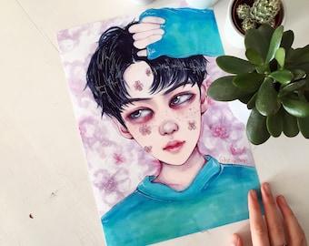 Sehun [LUCKY ONE] Art Print