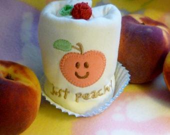Just Peachy Baby Onesie..100% Organic Cotton...Baby Shower..Baby Gift..Peach Appliqued Baby Onesie..My Little Peach :)