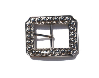 Vintage Heavy Square Silver Belt Buckle ONLY.