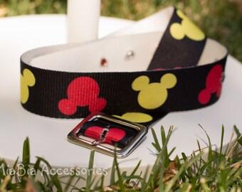 Mickey accessory Children's Belt Kid Belt boy Belt children's Belt girl Belt with Buckle Belt webbing Belt baby Belt Mickey Mouse belt Kids