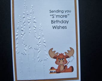 S'mores Moose Birthday Card