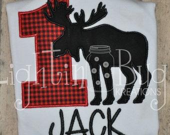 Lumberjack Moose Birthday Personalized Shirt