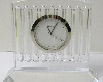 BACCARAT CRYSTAL, vintage office clock.