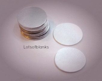1 Inch -  Aluminum Blanks - 20 gauge -Aluminum Hand stamping metal disc  -Stamping Supplies - Pendant blanks