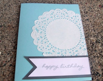Simple Lace Greeting Card - Set of 25