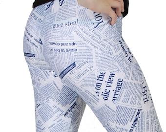 CLEARANCE - Newspaper Print  Spandex Leggings