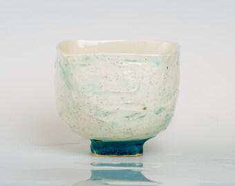 FLUID - Porcelain bowl, unique, handmade, OOAK