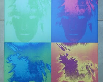"Original canvas photo print - Andy Warhol pop art style - size A2 16""x22"""