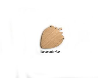 Strawberry Laser Cut Out Unfinished Wood Shape Craft Supply Shapes Wood Embellishment Craft Decoration Gift Decoupage